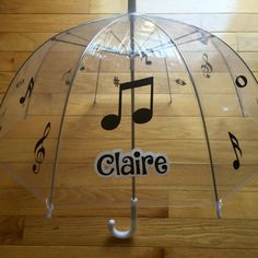 Sing in spring with this music design umbrellas! Customizable in and design or colors!