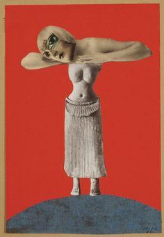 Hannah Höch, Ohne Titel (Sin título, de la serie Desde un museo etnográfic), 1930, collage, 48.3 x 32.1 cm. Museum für Kunst und Gewerbe, Ha...