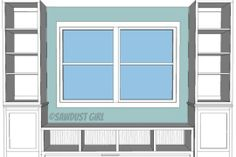 bookshelf around the window images - Google Search