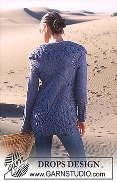 "Ravelry: 94-5 Cardigan in ""Art Knitting"" with Alpaca and Cotton Viscose, based on a circle pattern by DROPS design"