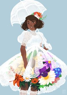 We should call that place. Broland · japhers: a spring bouquet~ Female Character Design, Character Design Inspiration, Character Art, Character Ideas, Black Girl Art, Art Girl, Pretty Art, Cute Art, Drawing Sites