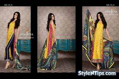 Asim Jofa Lawn for 2014 summer season has been revealed. The much awaited Asim Jofa Luxury Lawn collection prices are set at PK Rs.