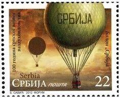 Stamp: Balon Srbija (Serbia) (100 Years of Serbian Military Air Force) Mi:RS 483