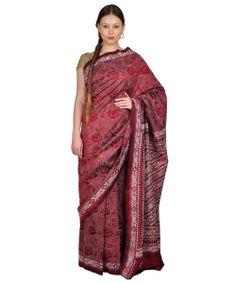 Hand Crafted Pure Tusser Silk Kantha Work Saree | Tt-8756 | Talking Threads Buy Onine Free Shipping Cod