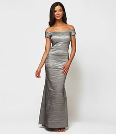 Looking for military party dresses...Alex Evenings Off-The-Shoulder Gown | Dillard's Mobile
