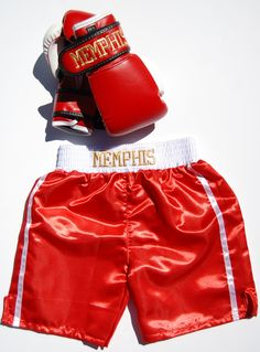 Personalized Baby Boxing Gloves And Shorts Set GoldBlack