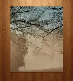 Sunrise Photo Art  | An original photo of sunrise and a fog-covered lake is printed... | Posters