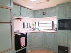 thethomasincident... fifth wheel makeover earlier than and after RV kitchen RV motorhome....  See more at the photo  More info @  http://www.weloverving.net/camping-trailer-accessories-and-parts/