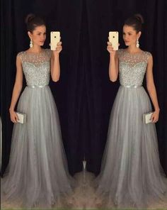 2016 New Arrival Cap Sleeves Beading Prom Dresses,Charming Gray Evening Dresses,A-line Modest Prom Gowns,Long Prom Gowns sold by DRESS. Shop more products from DRESS on Storenvy, the home of independent small businesses all over the world. Modest Prom Gowns, Junior Prom Dresses, Prom Dresses 2016, Prom Dresses For Teens, Long Prom Gowns, Formal Gowns, Dress Formal, Formal Prom, Party Dresses