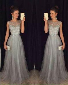 Hermosos vestidos largos para fiestas de noche
