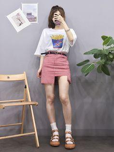 Korean Fashion Trends, Korea Fashion, Asian Fashion, Cute Fashion, Girl Fashion, Fashion Outfits, Korean Summer Outfits, Lit Outfits, Ulzzang Fashion