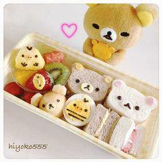 Rilakkuma Sandwich Bento♡ | Food ╰(°ㅂ°)╯ | Pinterest
