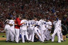 World Series---i never thought i would see the rangers in the world series in my lifetime but i got to see them twice!