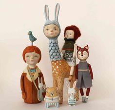Personajes mitologicos en papel mache