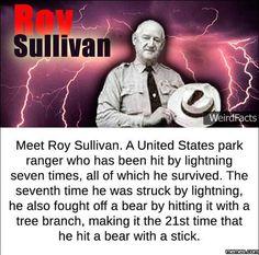 Meet Roy Sullivan #Funny #Memespic.twitter.com/DNgPPr0Nmk http://ibeebz.com