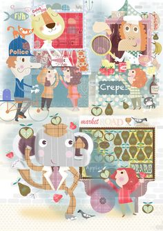 Children's Book by Stephanie Hinton, via Behance