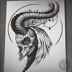 Goat by DeadInsideGraphics on DeviantArt Demon Drawings, Dark Art Drawings, Pencil Art Drawings, Art Sketches, Demon Tattoo, Dark Tattoo, Beautiful Dark Art, Creepy Tattoos, Lyric Tattoos