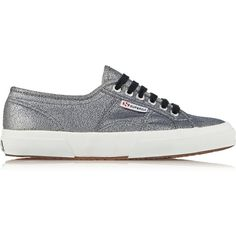 Superga Metallic jacquard sneakers ($51) ❤ liked on Polyvore featuring shoes, sneakers, silver, lace up shoes, laced up shoes, round toe shoes, round toe sneakers and laced shoes