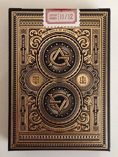 Guild of Artisans playing cards Label Design, Packaging Design, Print Design, Logo Design, Arte Steampunk, Vintage Playing Cards, Deck Of Cards, Graphic Design Inspiration, Letterpress