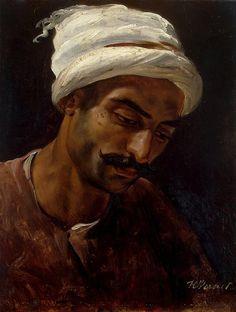Horace Vernet - Head of an Arab [c.1819]