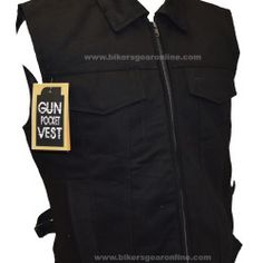 Mens Black Denim Vest Motorcycle