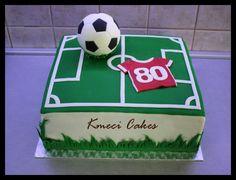 football - Cake by Kmeci Cakes Football Cake Design, Football Cakes For Boys, Football Themed Cakes, Football Themes, Soccer Birthday Cakes, Themed Birthday Cakes, Soccer Cakes, Soccer Theme, Berry Tart