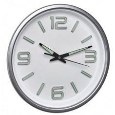 Reloj Cocina Silencioso TFA #relojcocina London Clock, Montage, Products, Shopping, Wall Clocks, Home Decoration, Types Of Wood, Silver, Glass