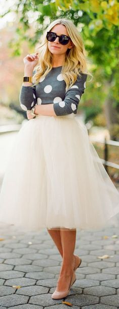 Dots + tulle, holiday wear