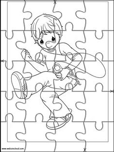 Printable jigsaw puzzles to cut out for kids Precious Moments 36