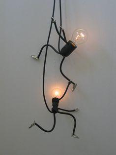 la lumière de la lampe, de conception unique et attrayante à la main - Photos Climb lampe Set