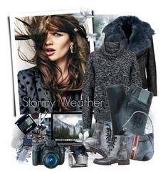 """TOP 10 trendy colors of a season A/W 2015-2016: STORMY WEATHER"" by ksenia-lo ❤ liked on Polyvore featuring BLK DNM, Chloé, G-Star Raw, Ann Demeulemeester, L.A.M.B., Eos and Abercrombie & Fitch"