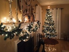 Christmas Tree - Mantle Decoration  Family Room by Made New