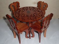 doll table and chair set by KentsKrafts on Etsy