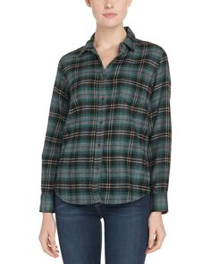 Spotted this JACHS Single Pocket Women's Green Plaid Shirt on Rue La La. Shop (quickly!).