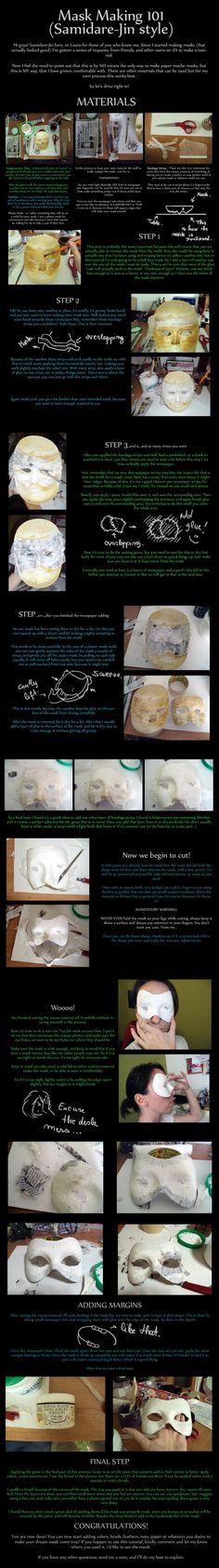 Mask Making Tutorial by Samidare-Jin.deviantart.com on @deviantART