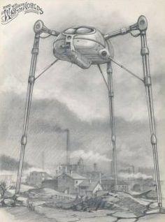 Martian fighting machine | Original art [?] for _Jeff Wayne's Musical Version of the War of the Worlds_