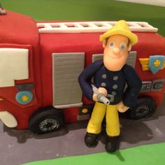 Fireman Sam boys chocolate birthday cake idea!