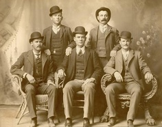 Butch Cassidy and the Sundance Kid. Butch Cassidy seated far right. Sundance Kid seated far left.Butch Cassidy and the Sundance Kid. Butch Cassidy seated far right. Sundance Kid seated far left. Sundance Kid, Gangsters, Churchill, Billy Kid, Old West Outlaws, Katharine Ross, The Wild Bunch, Into The West, Cowboys And Indians