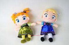 Lalki pluszowe Frozen młoda Elsa i Anna 25 cm - kochamzabawki.eu