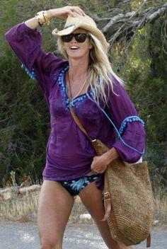 Elle Mcpherson in Ibiza
