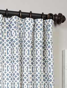 Shop for Exclusive Fabrics Nairobi Denim Printed Cotton Curtain Panel. Get free delivery On EVERYTHING* Overstock - Your Online Home Decor Outlet Store! Printed Curtains, Cotton Curtains, Curtain Fabric, Drapes Curtains, Curtain Material, Valances, Curtain Panels, Drapery, Window Treatment Store