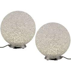 Set de 2 lampes Magic Globe - blanc
