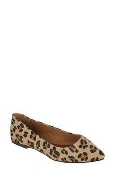A pair of leopard flats can bring life to any outfit. This is the pair I'm currently wearing.