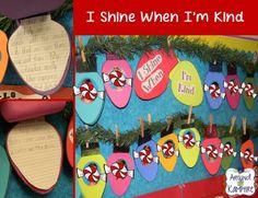I Shine When I\'m Kind  Bulletin Board #Christmas #TeachersFollowTeachers