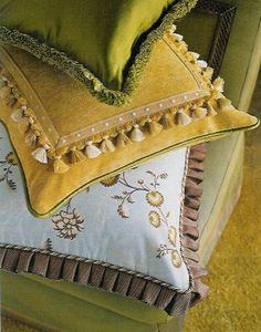 pillow, tassels, pleats and fringe. l.o.v.e.