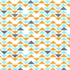 Tissu Triplet orange triangle x 10cm