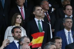 King Felipe and Queen Letizia attend the Copa del Rey Final between Barcelona and Sevilla