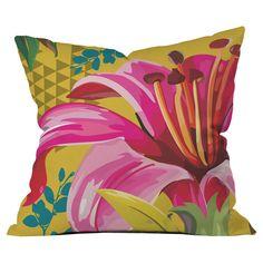 Juliana Curi Mix Flower 2 Throw Pillow