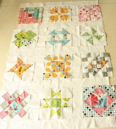 Hand Pieced Quilt-a-Long...tutorials for all blocks included