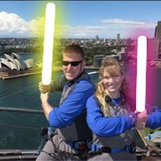 2 years ago Jesse @gimp297 and I climbed the #sydneyharbourbridge on our #honeymoon #throwback #starwars #nerds by theatrerox http://ift.tt/1NRMbNv